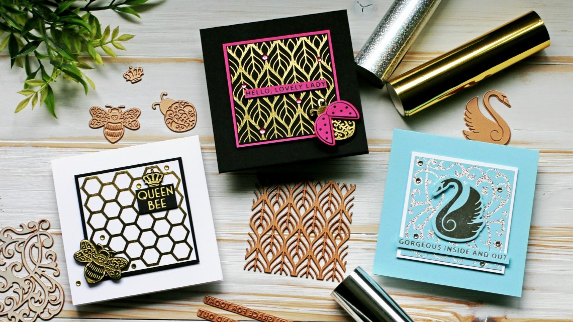 Becca Feeken Sweet Cardlets Glimmer Project Kit | Cardmaking Inspiration with Sandi MacIver | Video Tutorial #NeverStopMaking #DieCutting #Cardmaking #GlimmerHotFoilSystem