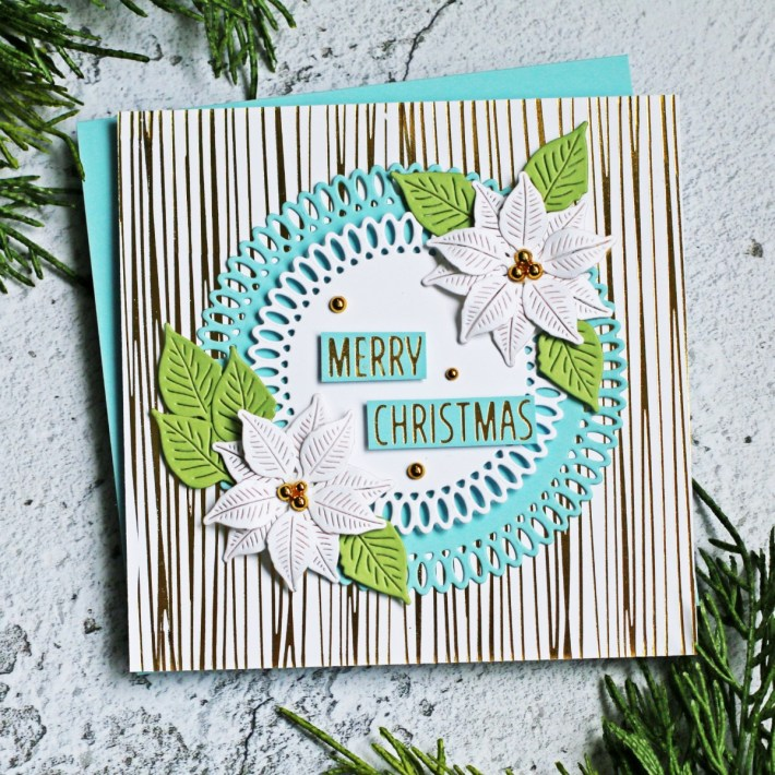 Spellbinders Becca Feeken Picot Petite Collection - Cardmaking Inspiration with Sandi MacIver - Picot Petite Circles Etched Dies #Spellbinders #NeverStopMaking #AmazingPaperGrace #DieCutting #Cardmaking