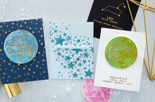 Introducing Spellbinders STN-001 Layered Full Moon & STN-002 Star Bright Stencils #Spellbinders #NeverStopMaking
