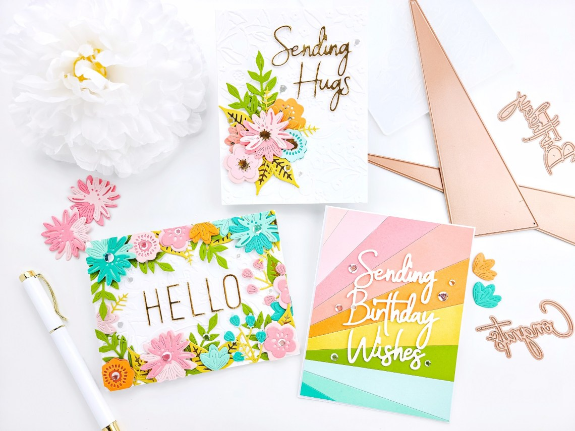Colorful Clean & Simple Cards featuring Perfect Collection with Yasmin Diaz
