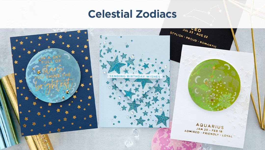 Spellbinders Celestial Zodiacs Collection Inspiration Round-Up