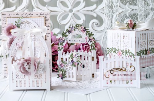 May 2021 Amazing Paper Grace Die of the Month is Here – Mini 3D Vignette Garden Gate