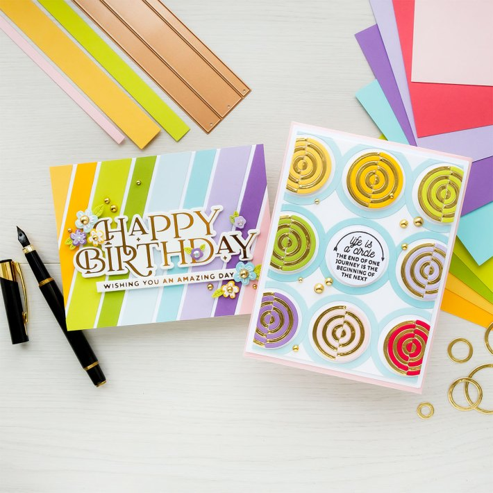 June 2021 Large Die of the Month is Here – Colorblock Circles & Stripes