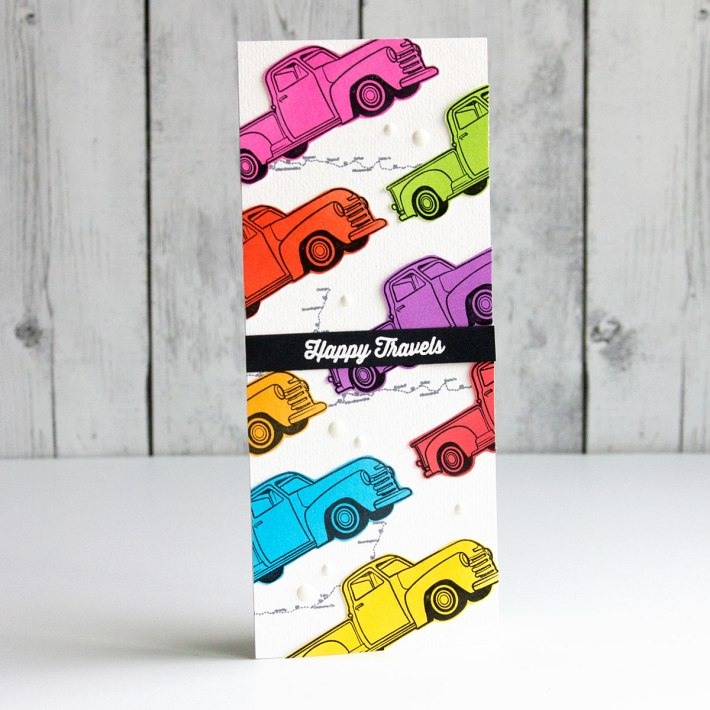 Cardmaker Stamp Collection – A Trio of Colorful Slimline Cards by Jean