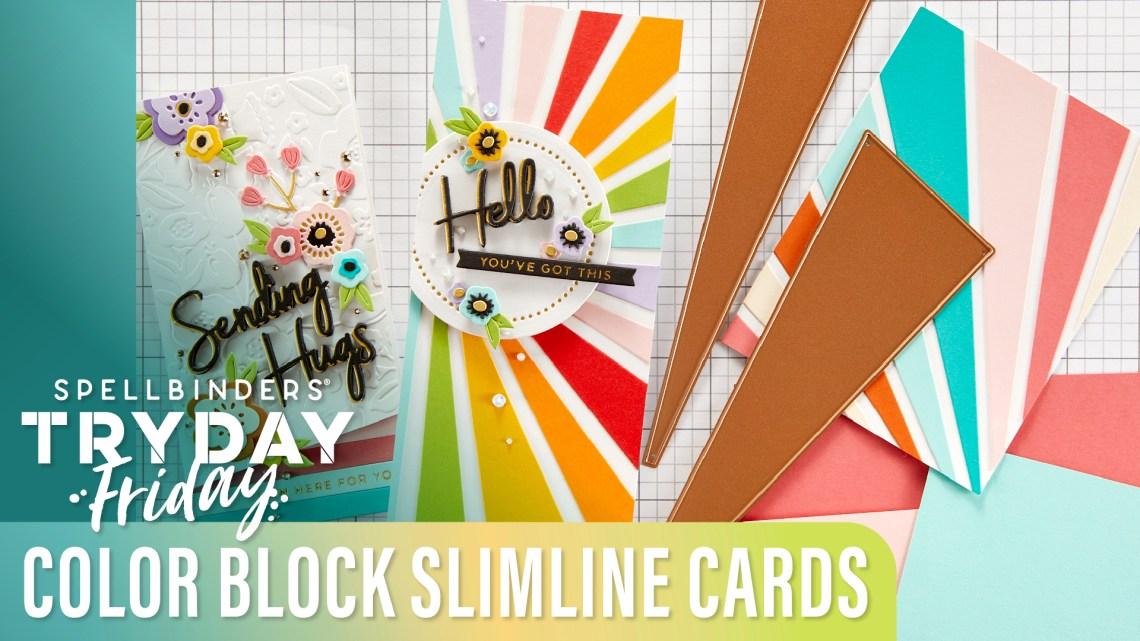 Color Block Slimline Cards | Spellbinders Live