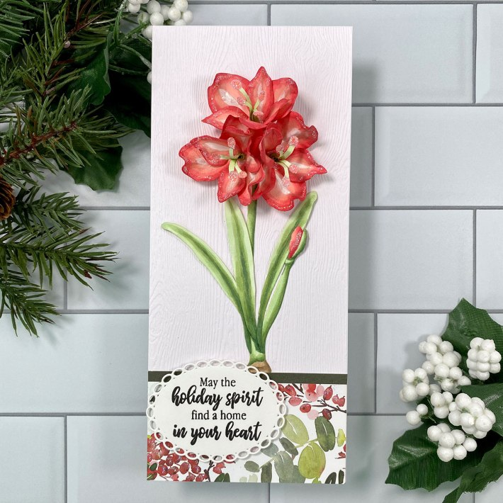 Create Gorgeous Christmas Cards with Susan's Holiday Flora Collection with Carol Hintermeier