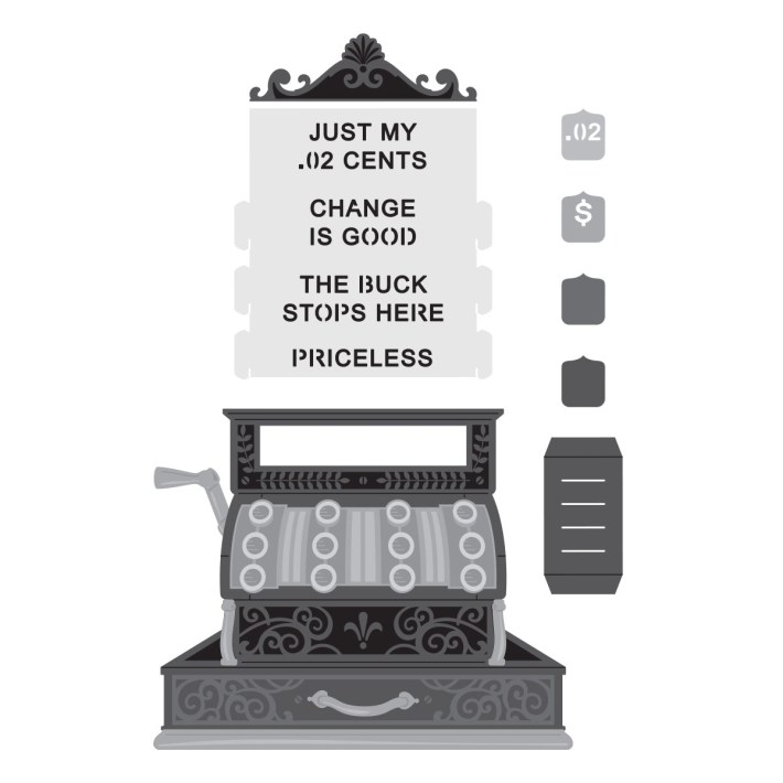 September 2021 Amazing Paper Grace Die of the Month is Here – Pop Up 3D Vignette Vintage Cash Register