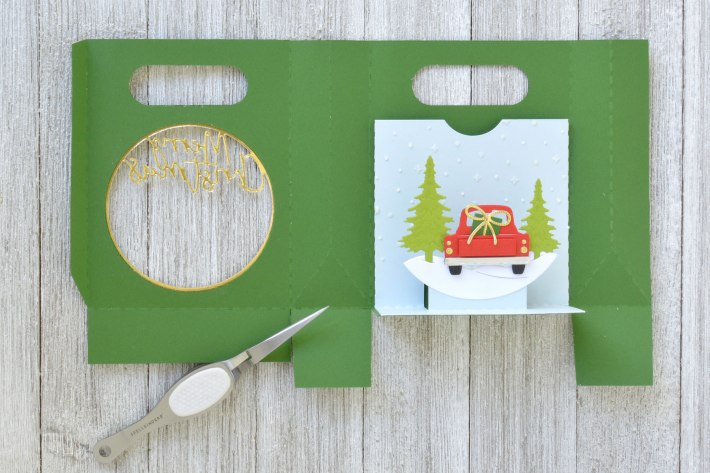 Using Electronic and Manual Machines Together | Shadowbox Gift Card Bag by Annie Williams