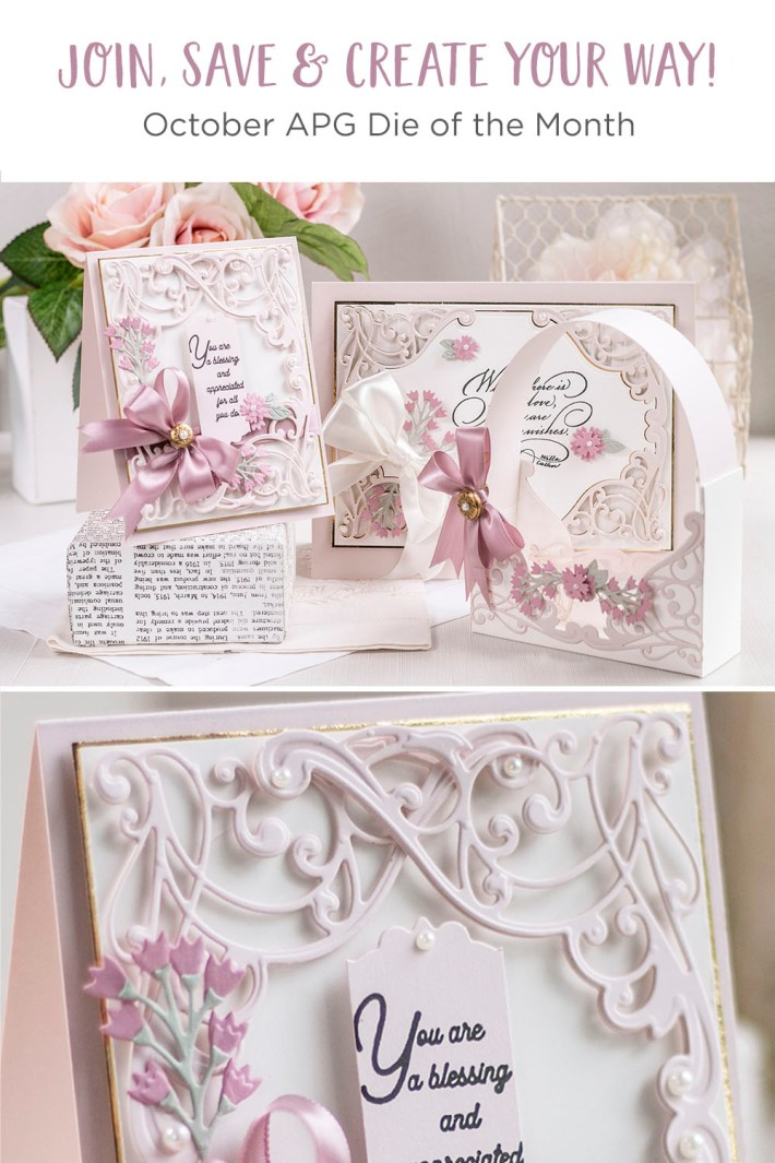 October 2021 Amazing Paper Grace Die of the Month Preview & Tutorials –  Flourished Fleurit