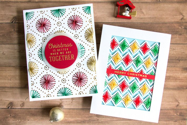 All Stitched Up in Traditional Christmas Colors with Jean Manis