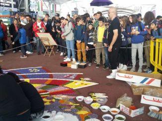 L'Infiorata di Spello ad Expo 2015 a Milano, la magia dei fiori affascina il mondo