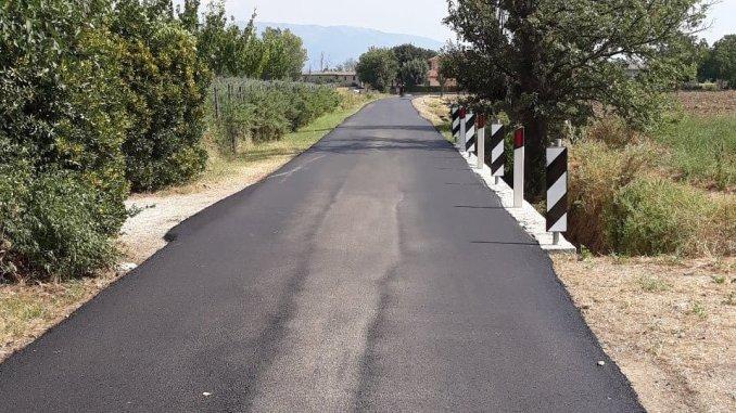 Viabilità stradale, terminato l'intervento di manutenzione straordinaria