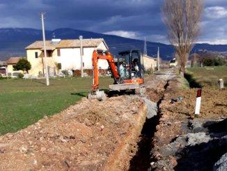Cominciati i lavori per nuova rete idrica a Limiti di Spello