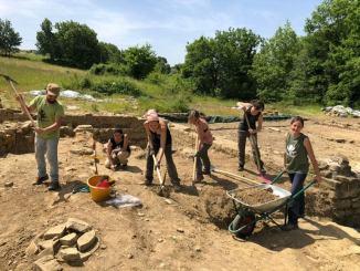 Ripresi lavori di scavo sito archeologico Urvinum Hortense a Collemancio