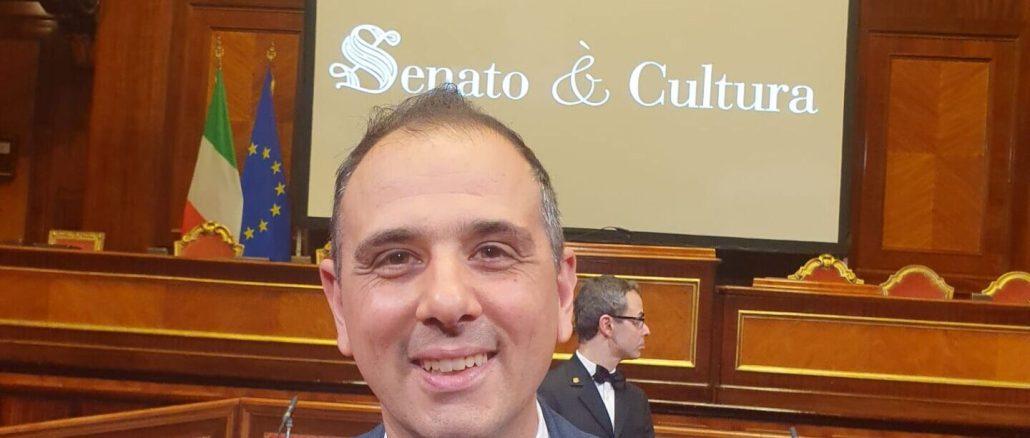 Onorificenza del Presidente della Repubblica a Gianluca Insinga, presidente siadell'Ancri che alla guida dell'associazione Amici di Spello