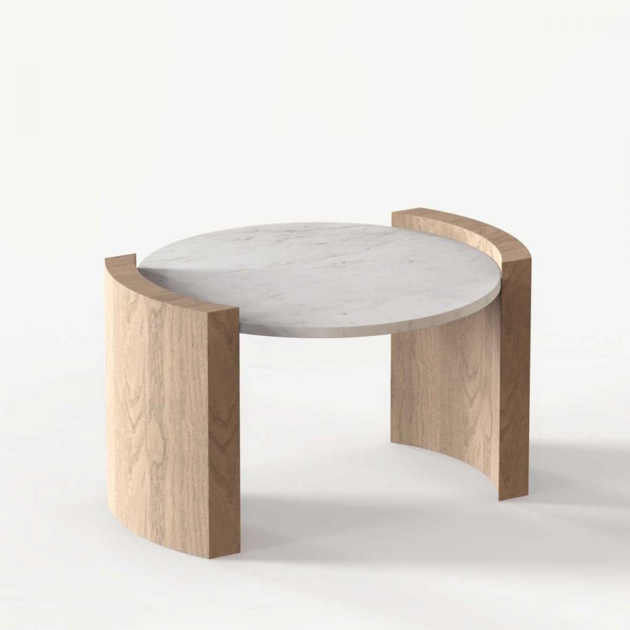 Jia Small Coffee Table By Atelier De Troupe Handmade In L A