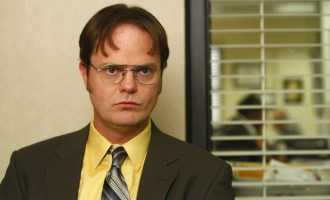 "difficult people metaphor of Dwight from the show ""The Office"" staring at camera"
