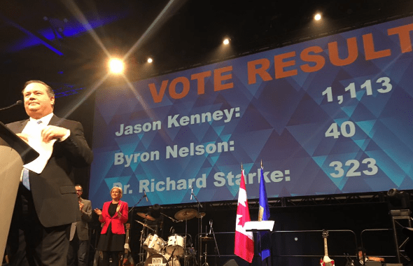 LANDSLIDE - Jason Kenney Winner Of Alberta PC Party Leadership Race