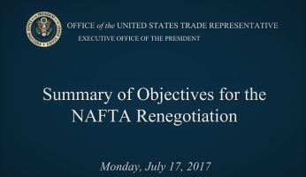 U.S. Releases NAFTA Renegotiation Objectives