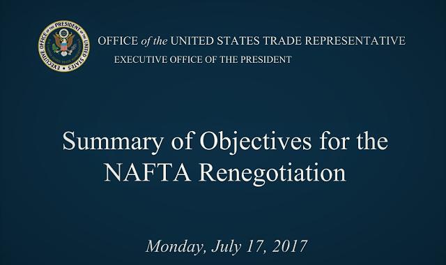 U.S. Releases NAFTA Renegotiation Objectives