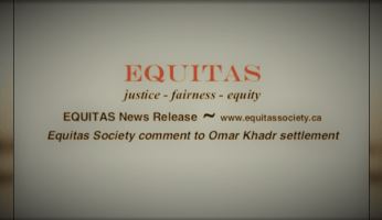 Veterans' Equitas Society Statement On Omar Khadr Payment