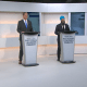 WATCH LIVE: First Leaders Debate As Scheer, Singh, May, & Trudeau's Empty Podium Face Off