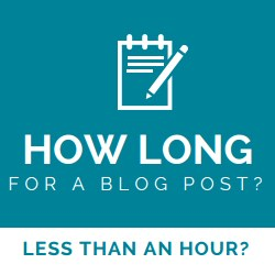 How much time for a blog post? Less than an hour?
