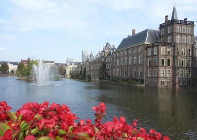 Hofvijver and Binnenhof in The Hague