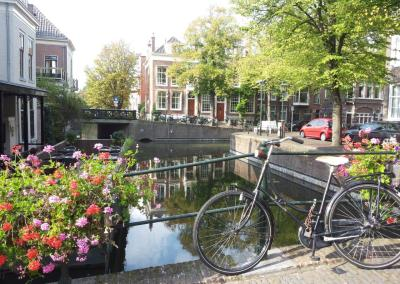 Canal in The Hague centre, The Netherlands