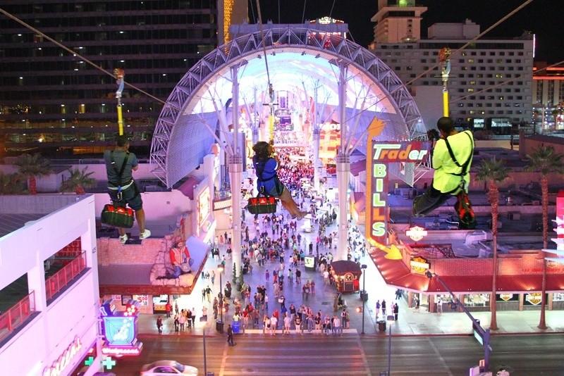 Slotzilla zipline - What to do in Las Vegas besides gambling