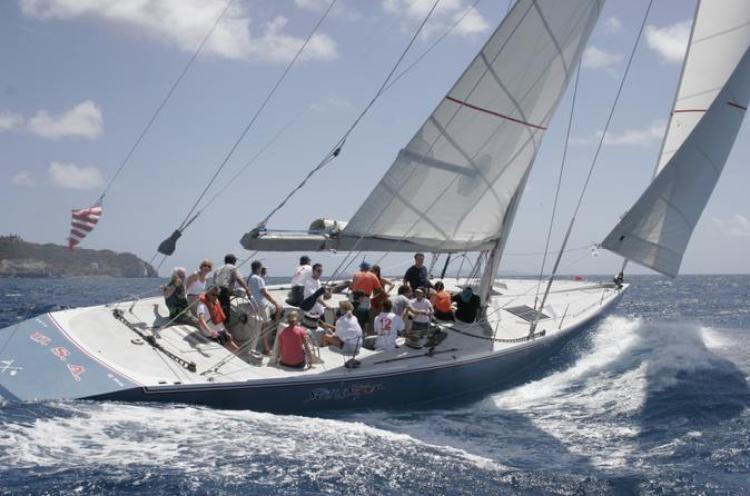 12 Metre sailing race St Maarten