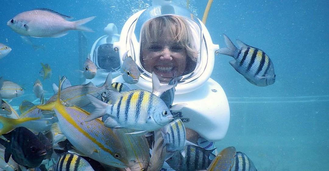 St Maarten Sea Trek helmet diving