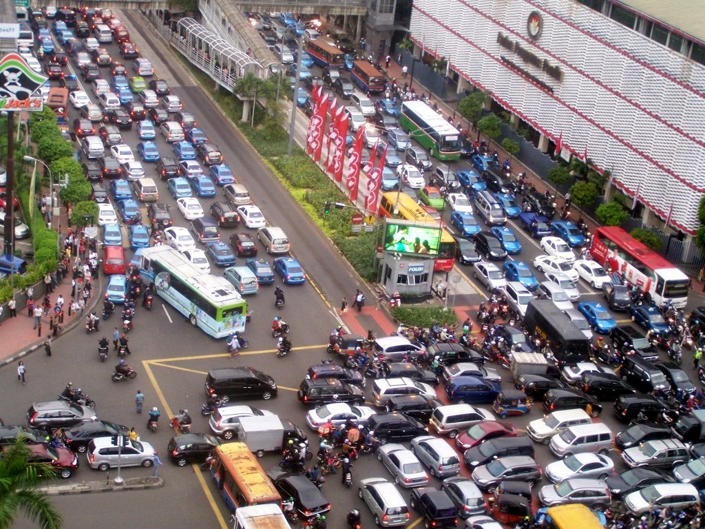 Indonesia facts: traffic jams