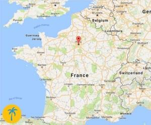 Expat life in Paris, France - map