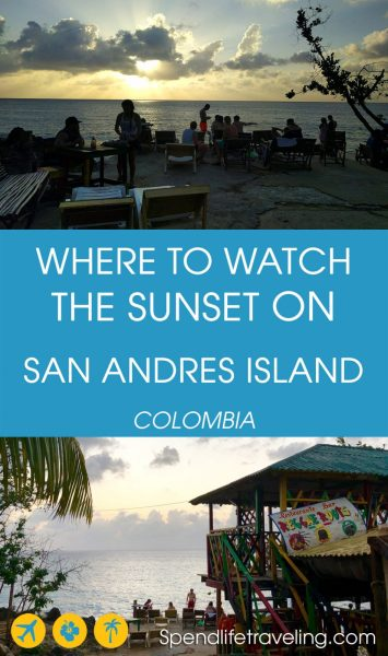San Andres is Colombia's famous Caribbean island. But it was surprisingly difficult to find a good place to watch the sunset... #sanandres #sanandresisland #bestsunset #caribbeanisland #traveltips #colombia #travelColombia