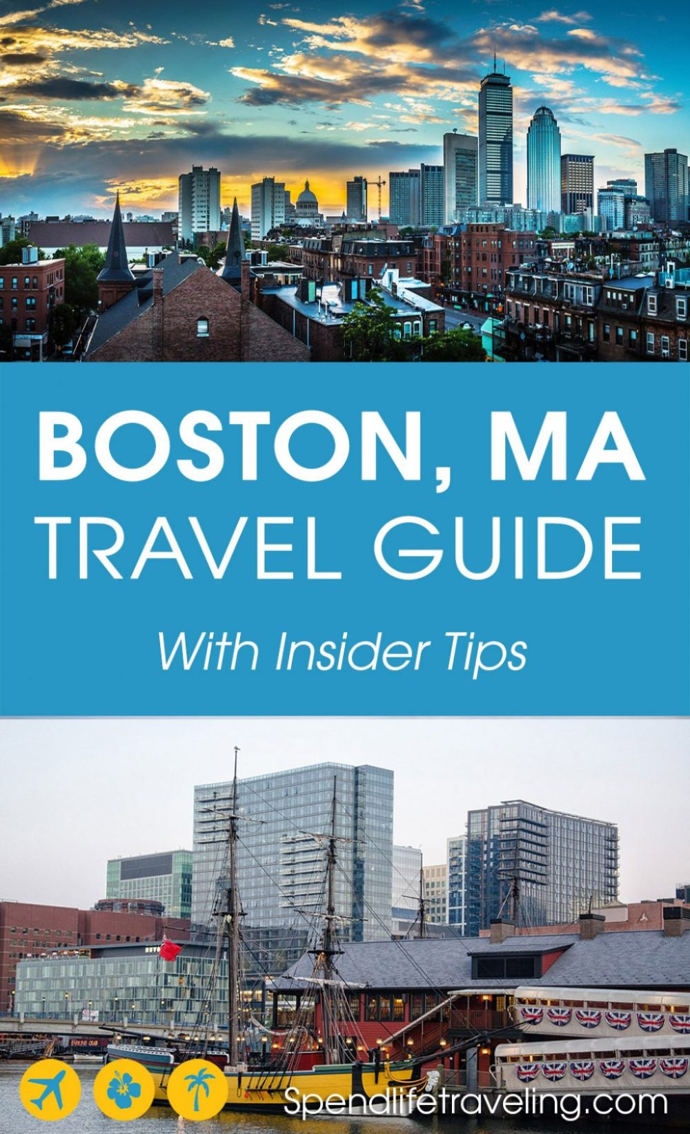 A practical travel guide for visiting #Boston: places to visit, where to eat and where to stay in Boston, #Massachusetts, USA. #citybreak #traveltips #travelUSA