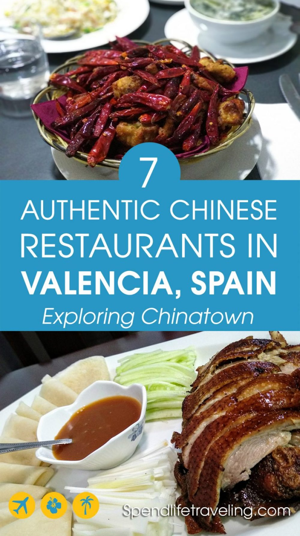 Chinese food might not be the first thing that comes to mind when thinking about what to eat in Valencia, but this city actually has a sizeable Chinese community and a Chinese neighborhood worth exploring. Check out these 7 authentic Chinese restaurants. #Valencia #visitSpain #travelSpain #citybreak