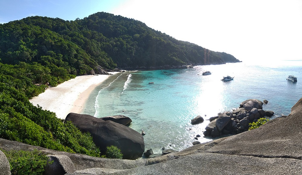 Liveaboard diving at the Similan Islands, Thailand
