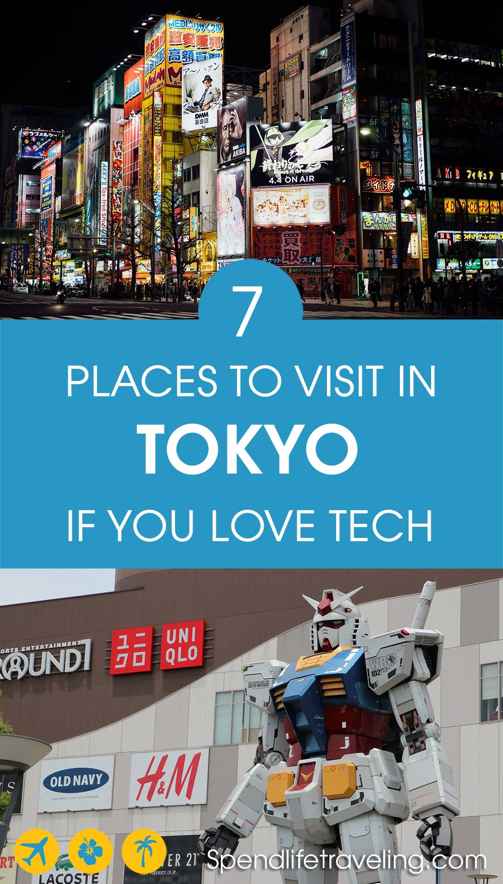 If you love tech, gaming, anime or any of the innovation Tokyo has to offer, check out these 7 places! #Tokyo #techgeek #travelTokyo