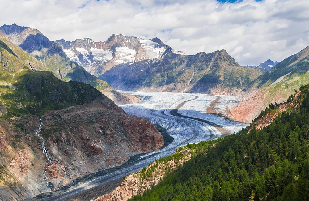 Most beautiful places in Switzerland: Aletsch Glacier