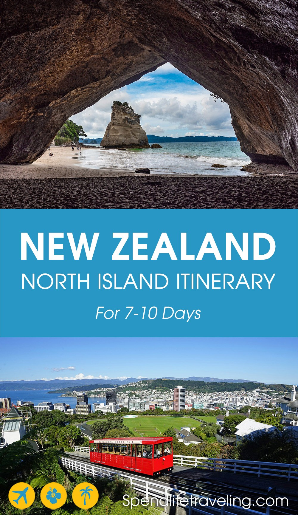 A practical New Zealand North Island itinerary for an unforgettable 7 to 10 day road trip. #newzealand #northisland #bestroadtrip