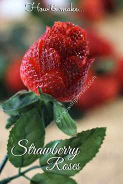 How to make strawberry roses!