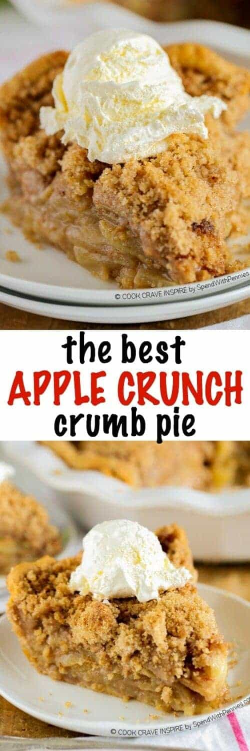 Apple Crumb Pie with a title