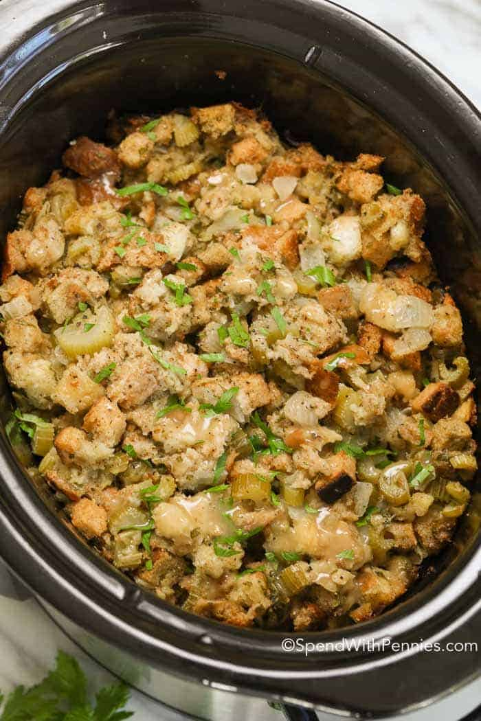 Crock Pot Stuffing   Spend With Pennies Crock Pot Stuffing takes my favorite classic stuffing recipe and turns it  into an easy make