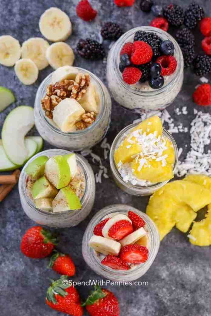 Overnight Oats with our favorite oatmeal toppings