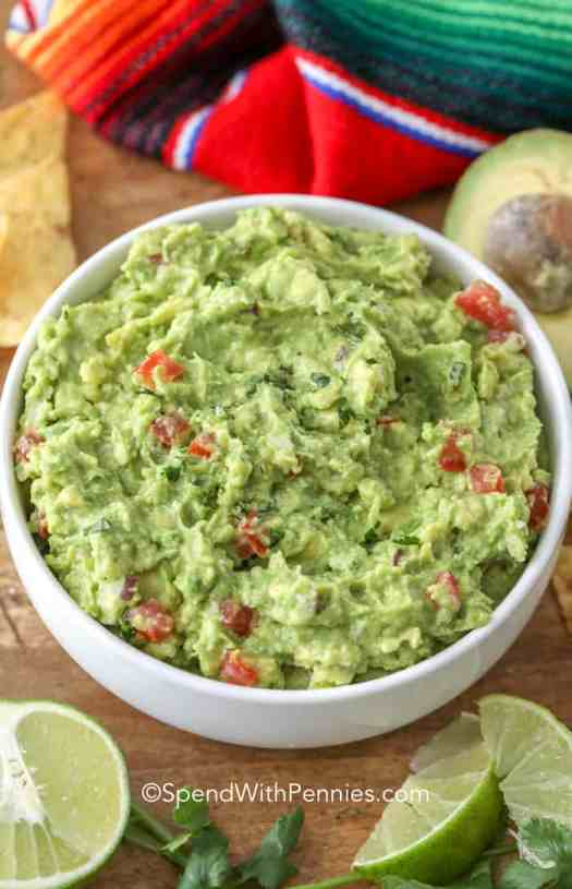 The best easy Guacamole recipe in a bowl ready to serve