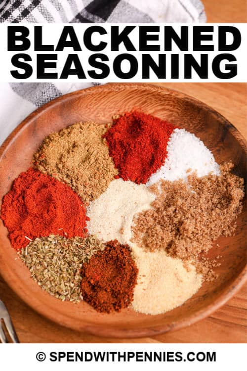 Blackened Seasoning with a title