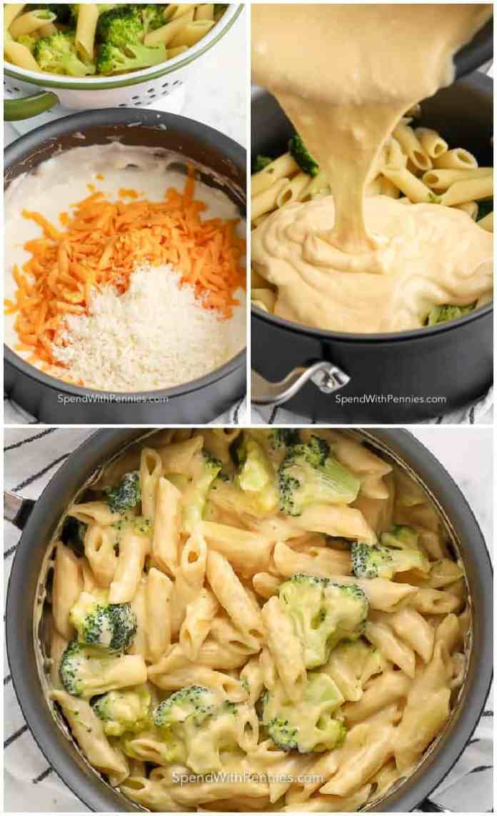 steps for making broccoli pasta