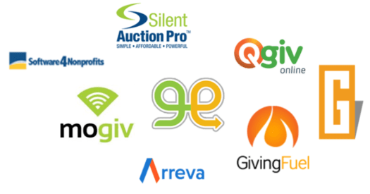 Nonprofit fundraising CRM system logos