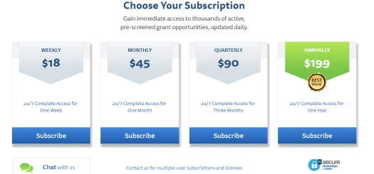 GrantWatch subscriptions image